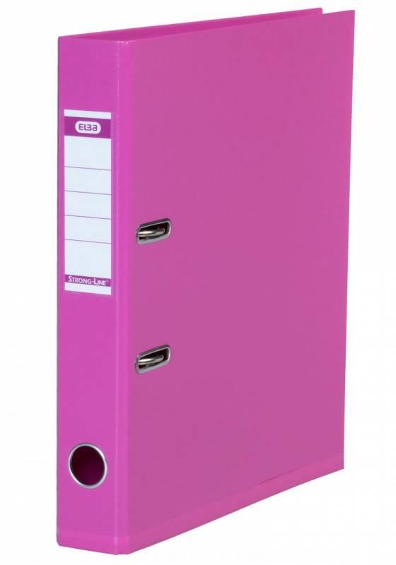 Billede af Brevordner ELBA PP A4 pink smal 1415-19