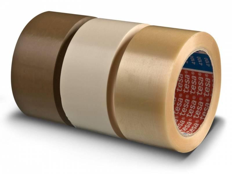 Image of   Tape tesa rillet PVC klar 50mmx66m 4100