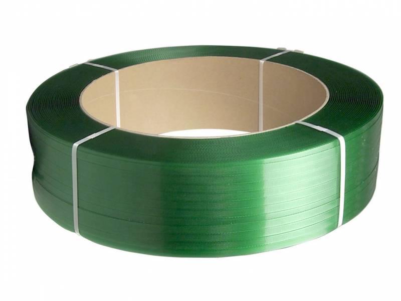 Strapbånd PET grøn 12,5x0,60mm ø406mm 2500m 290kg træk