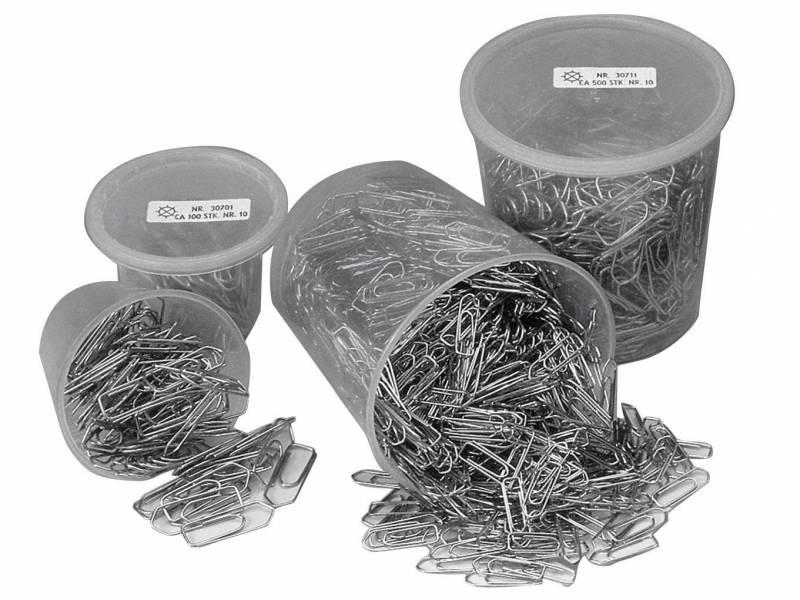 Billede af Clips Esselte 25mm i plastdåse 1000stk/pak 30710