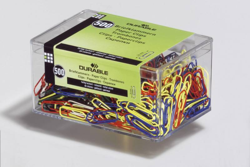 Billede af Clips Durable 25 mm kulørte 500stk/pak 1241