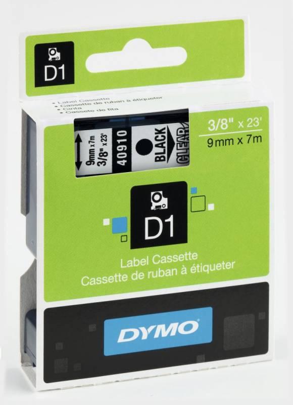 Billede af Labeltape DYMO D1 9mm sort på klar