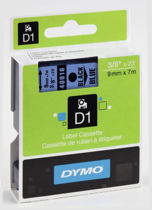 Billede af Labeltape DYMO D1 9mm sort på blå