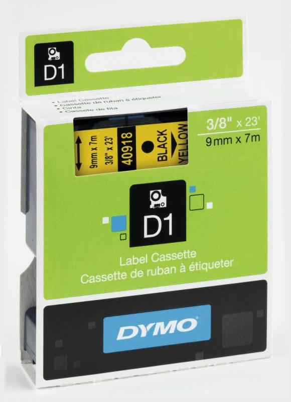Billede af Labeltape DYMO D1 9mm sort på gul