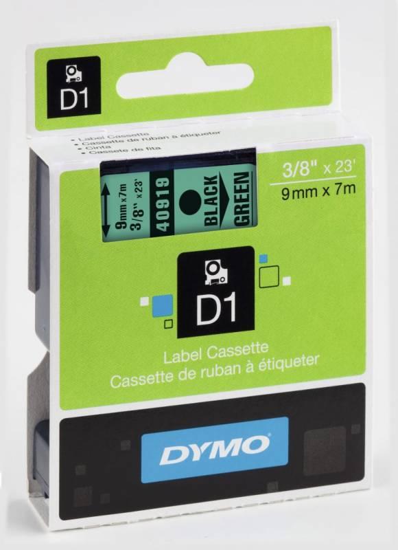 Billede af Labeltape DYMO D1 9mm sort på grøn