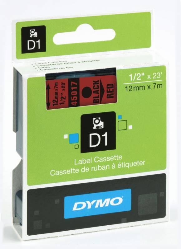 Billede af Labeltape DYMO D1 12mm sort på rød