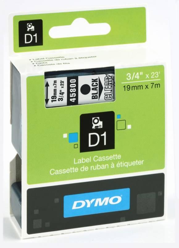 Billede af Labeltape DYMO D1 19mm sort på klar