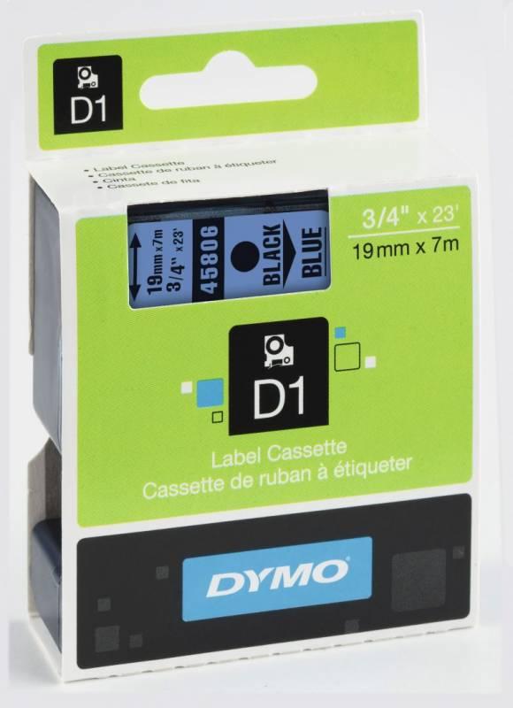 Billede af Labeltape DYMO D1 19mm sort på blå