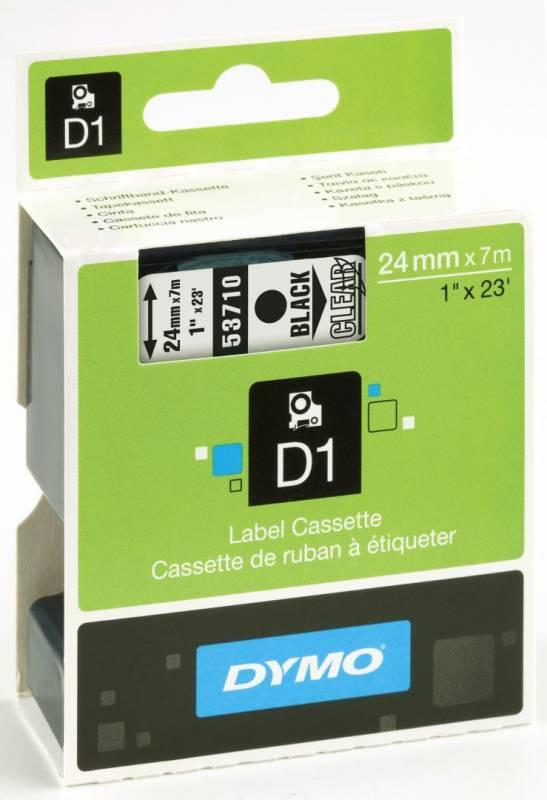 Billede af Labeltape DYMO D1 24mm sort på klar