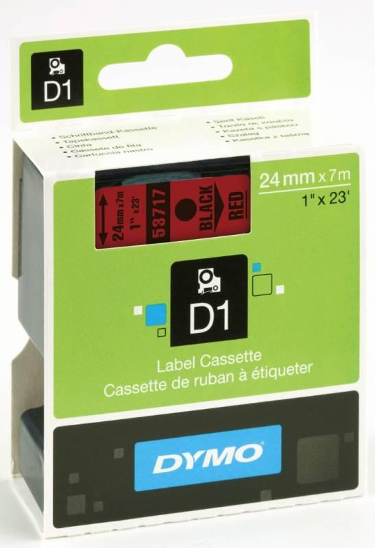Billede af Labeltape DYMO D1 24mm sort på rød