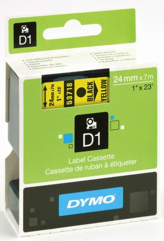 Billede af Labeltape DYMO D1 24mm sort på gul