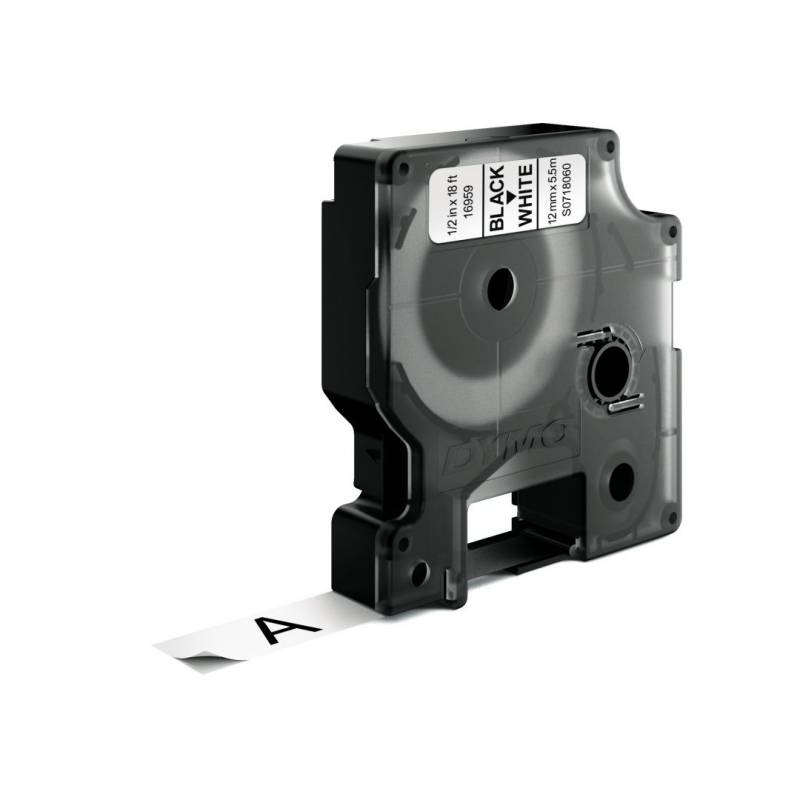 Billede af Labeltape DYMO D1 12mm sort på hvid