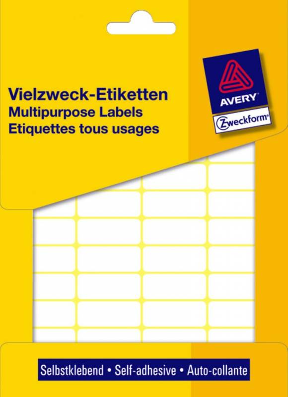 Etiket Avery hvid 50x19mm 3327 486stk/pak