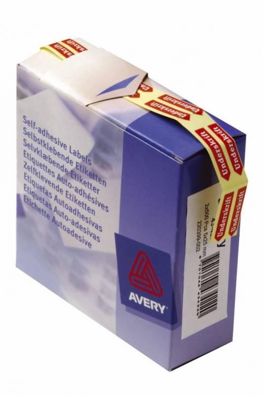 Etiketter Avery Pil signatur 5x25mm 1000stk/pak 43-422