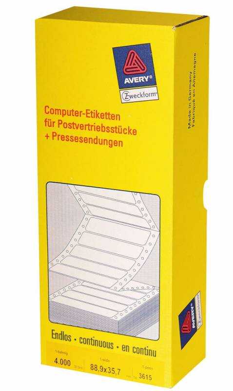 Computer-line 1-banet etiket 88,9x35,7mm 3615 4000stk/pak