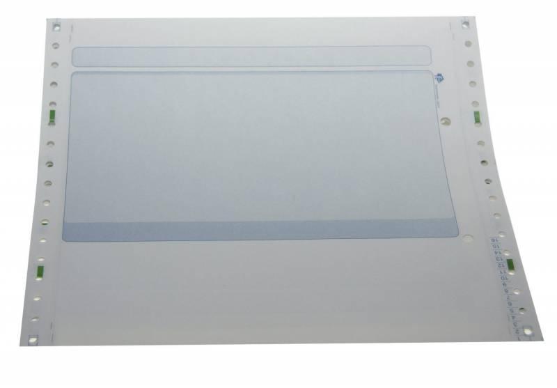Edb-papir 2-banet m/tryk blå 8,5 x240mm 26019 1000stk/pak