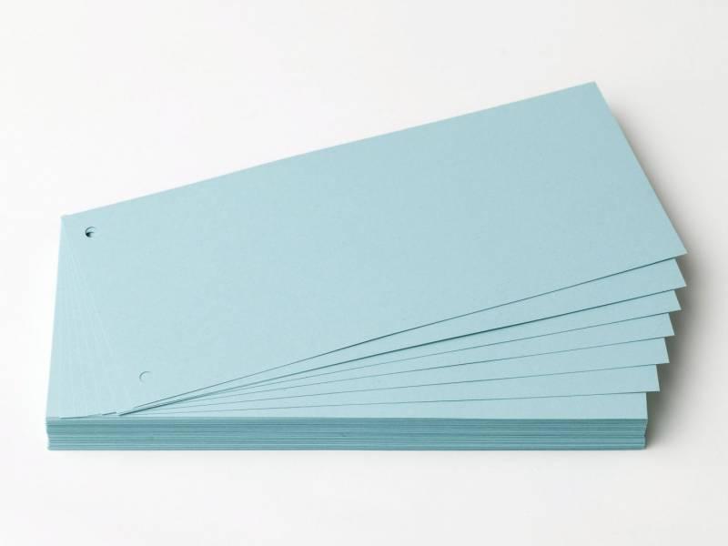 Billede af Faneblade OD karton blå 10,5x24cm 190g 100ark/sæt