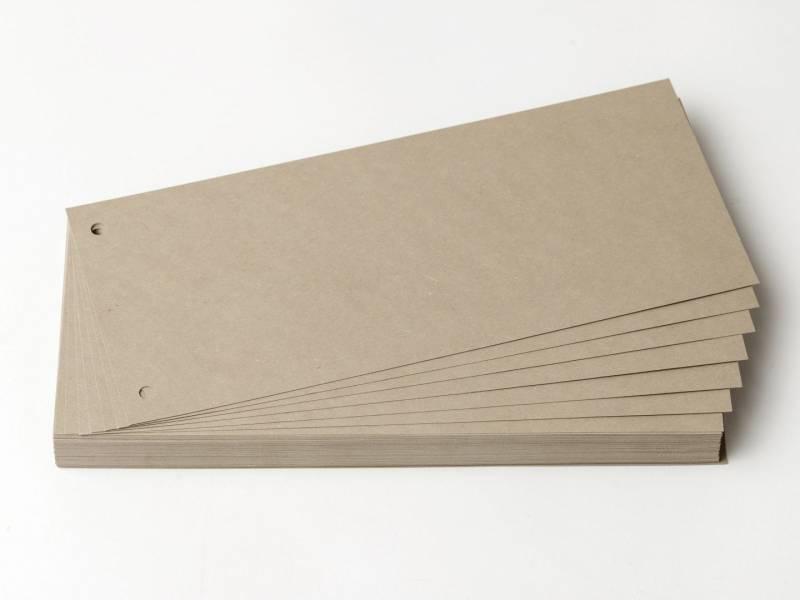 Billede af Faneblade OD karton grå 10,5x24cm 190g 100ark/sæt