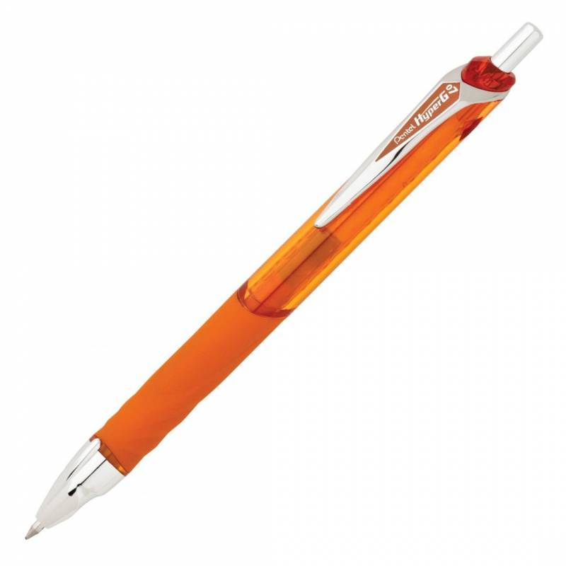 Billede af Rollerpen Pentel HyperG orange 0,7mm KL257-V