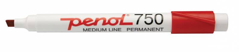 Image of   Marker Penol 750 rød 2-5mm