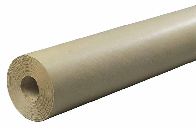 Kraftpapir brun 55cmx200m 60g