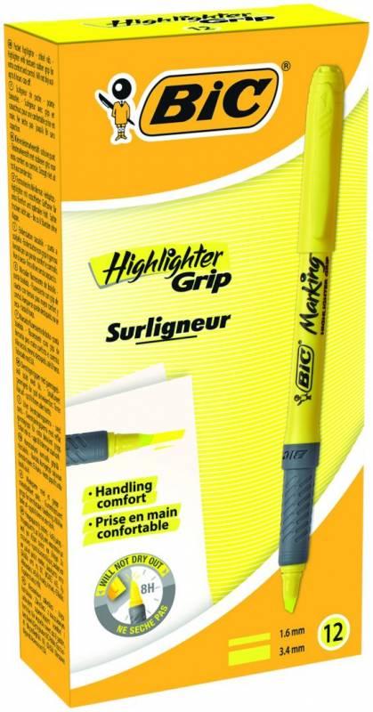 Billede af Tekstmarker Bic brite liner gul Grip