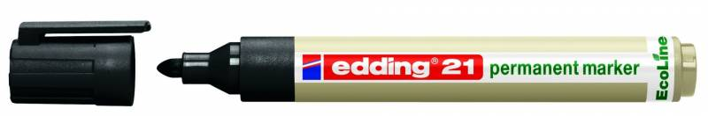 Image of   Marker Edding 21 ECOLINE sort perm. 1,5-3mm rund spids