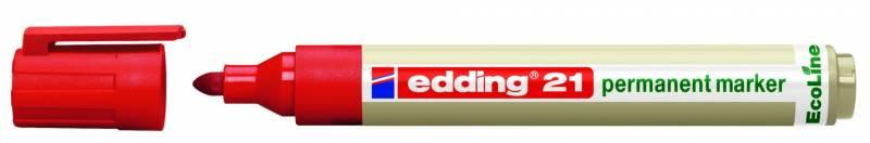 Image of   Marker Edding 21 ECOLINE rød perm. 1,5-3mm rund spids