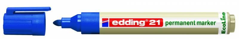 Image of   Marker Edding 21 ECOLINE blå perm. 1,5-3mm rund spids
