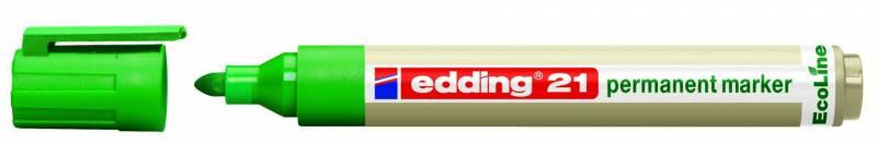 Image of   Marker Edding 21 ECOLINE grøn perm. 1,5-3mm rund spids