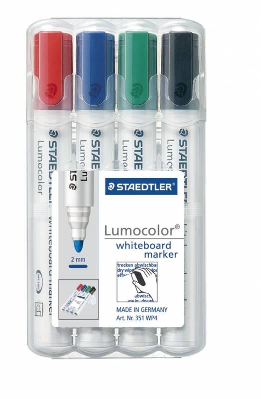 Image of   Whiteboardmarker Lumocolor ass. stregbredde 2mm 351 WP4