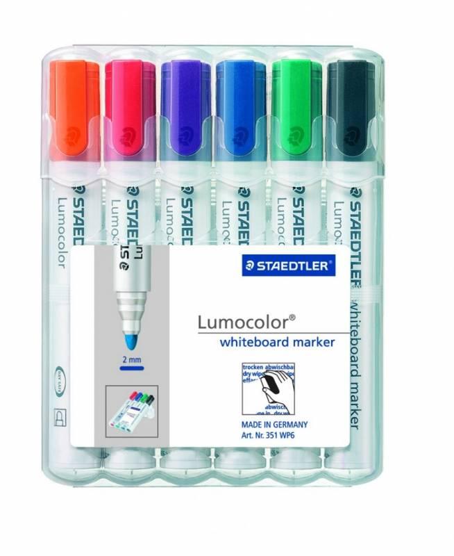 Image of   Whiteboardmarker Lumocolor ass. stregbredde 2mm 351 WP6