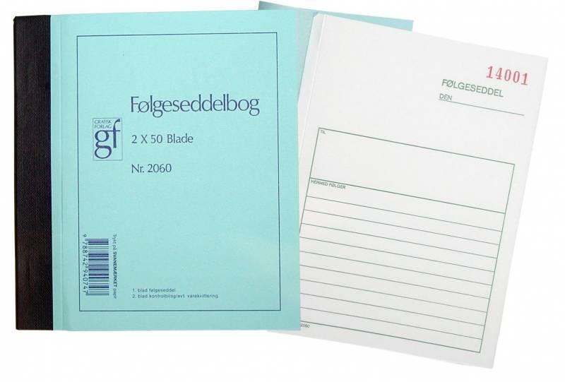 Image of   Følgesedler grafisk 10,8x15cm 2x50ark/stk 2060