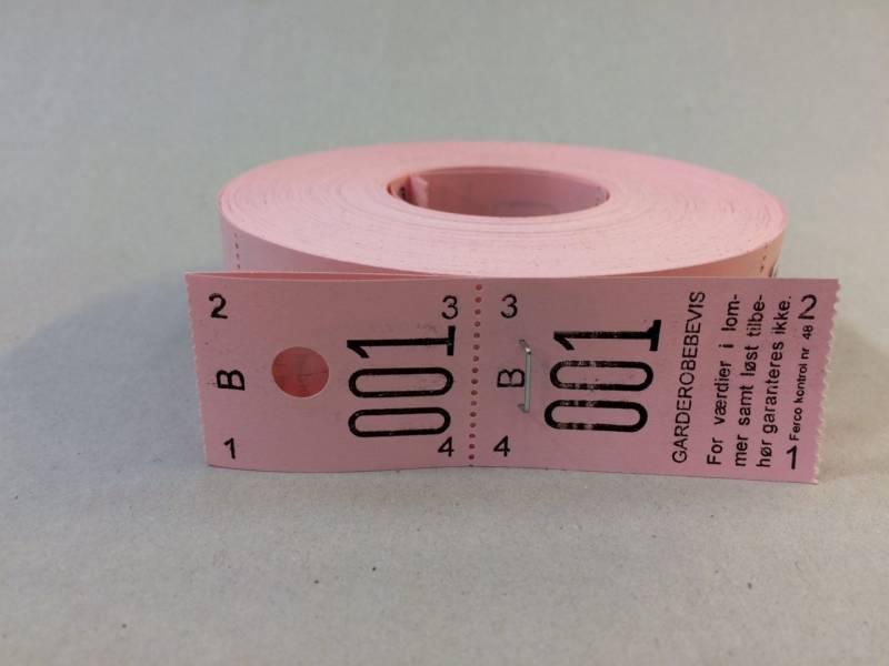 Billede af Garderobenumre rosa 2-delt 48 2x500stk