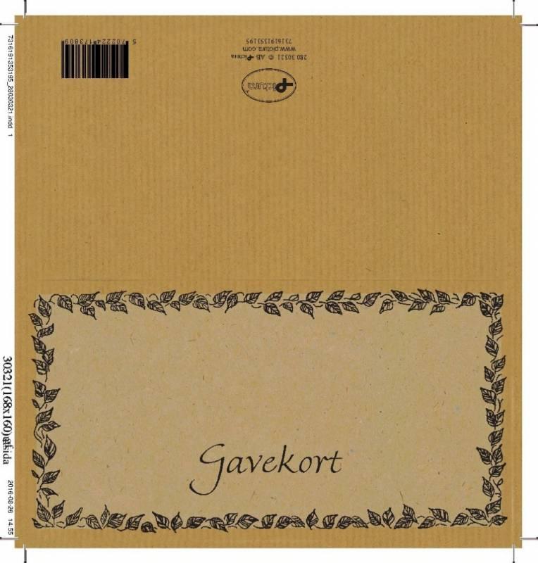 Billede af Gavekort dobbelte 250g 85x160mm falset 100stk/æsk