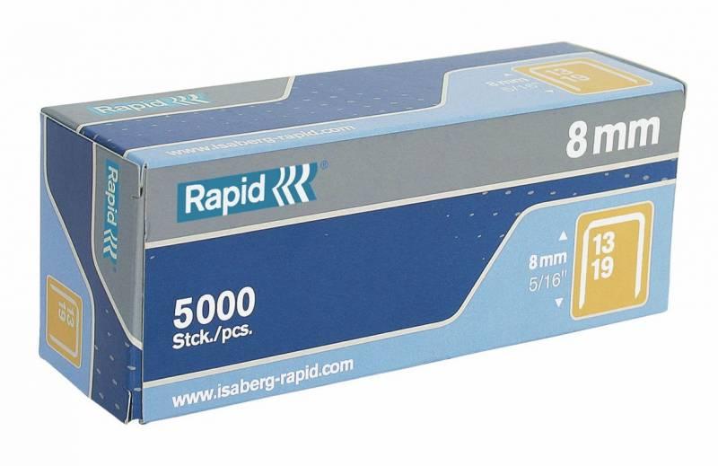 Image of   Hæfteklammer t/hæftepistol Rapid 13/8mm 5000stk/pak