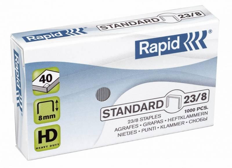 Billede af Hæfteklammer galvaniseret 23/8 Rapid standard 1000stk/pak