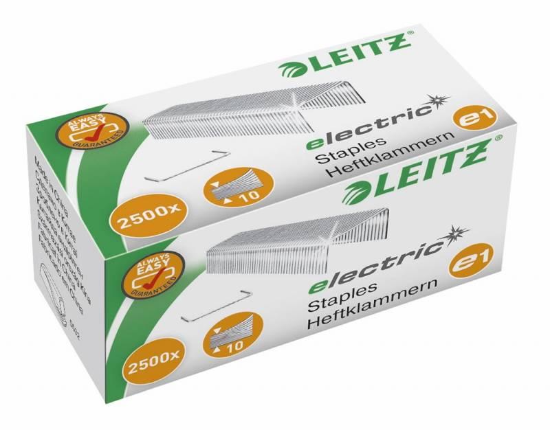 Billede af Hæfteklammer Leitz stål e1 Electric 2500stk/pak