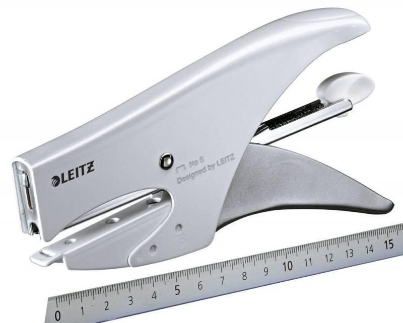 Image of   Hæftetang Leitz 5547 hvid til klamme no. 8