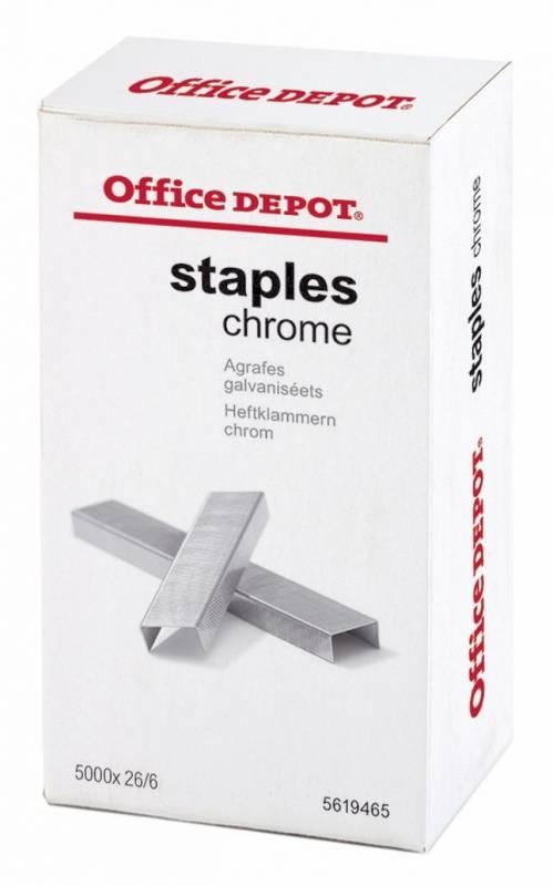 Hæfteklammer galvaniserede Office DEPOT 26/6 5000stk/pak