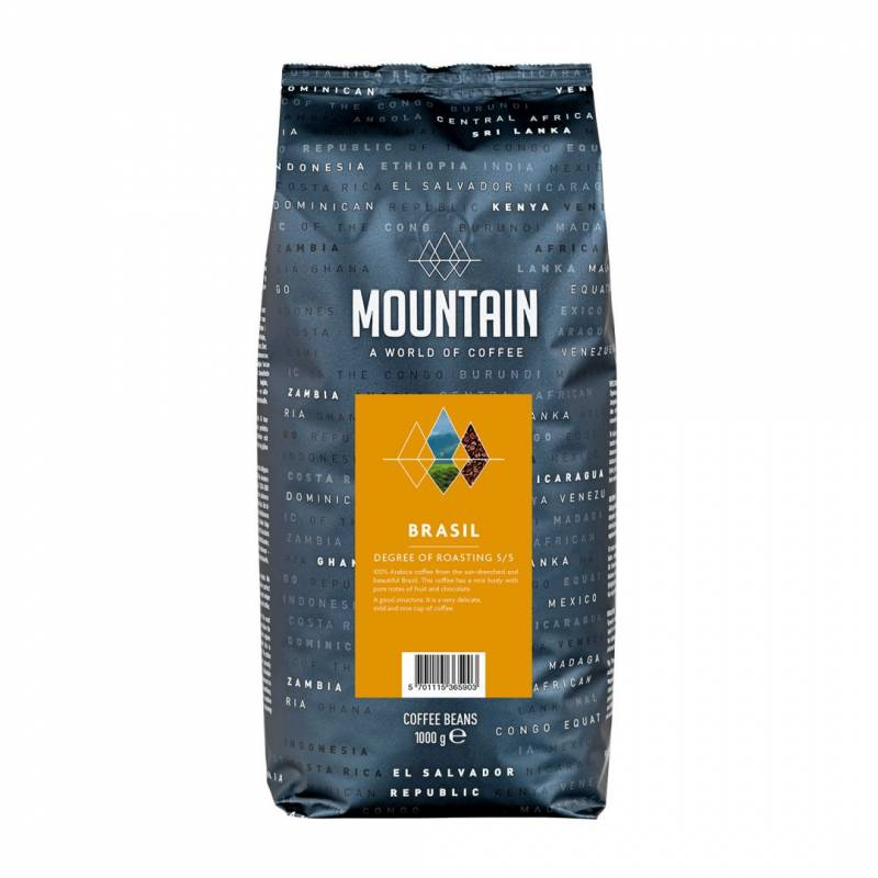 Image of   Kaffe Mountain Brasil 1kg/ps Helbønne