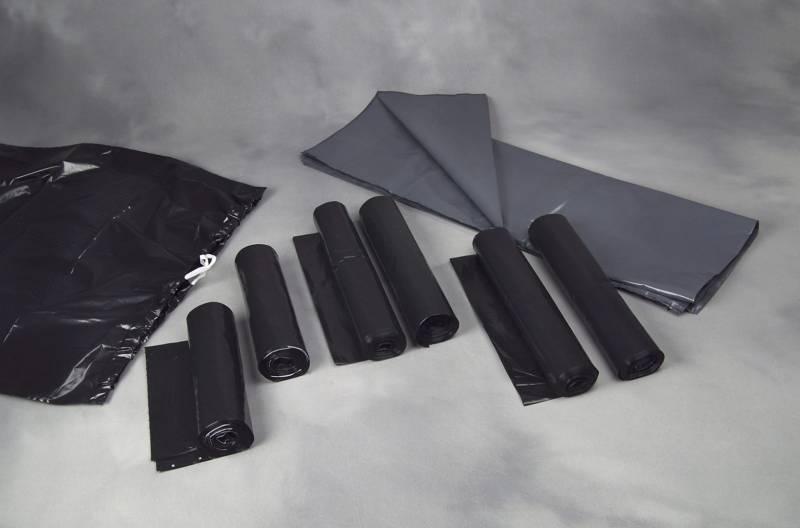 Affaldssække plastik grå 70my 880x1100mm løse