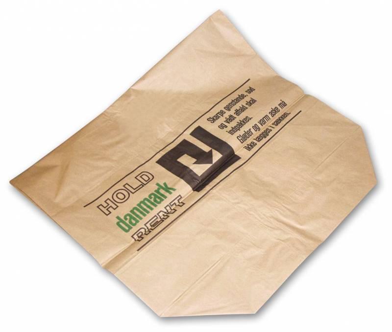 Affaldssække papir 700x950x250mm 2-lags vådstærk brun