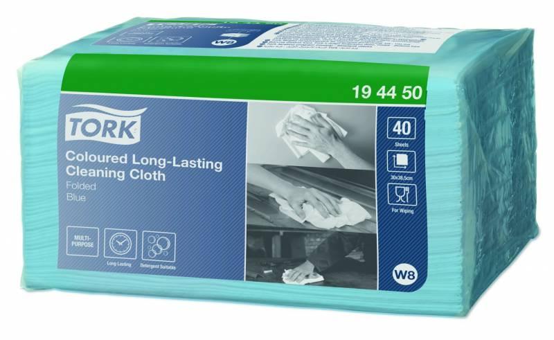 Image of   Allround klud Tork Premium W8 Small Pack blå 30x38cm 40stk