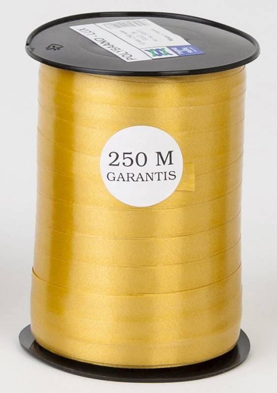 Billede af Gavebånd glat guld 10mmx250m nr. 06