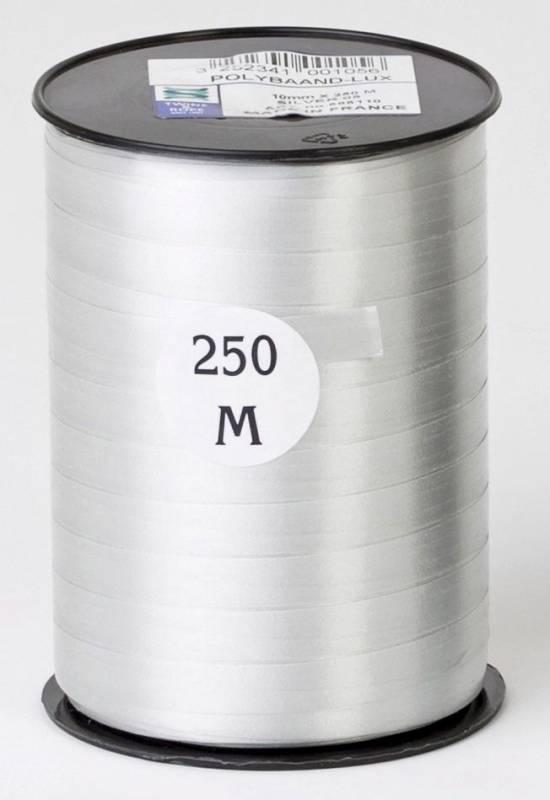 Billede af Gavebånd glat sølv 10mmx250m nr. 05