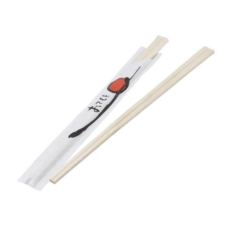 Spisepinde træ Sushi 100stk separat indpakket/halfwrap