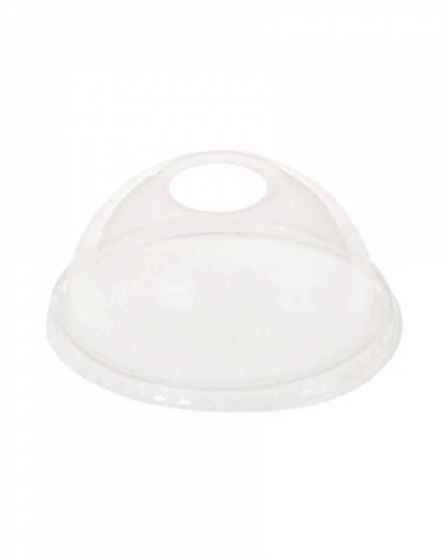 Billede af Låg kuppel med hul t/20cl glas PLA 50stk/ps