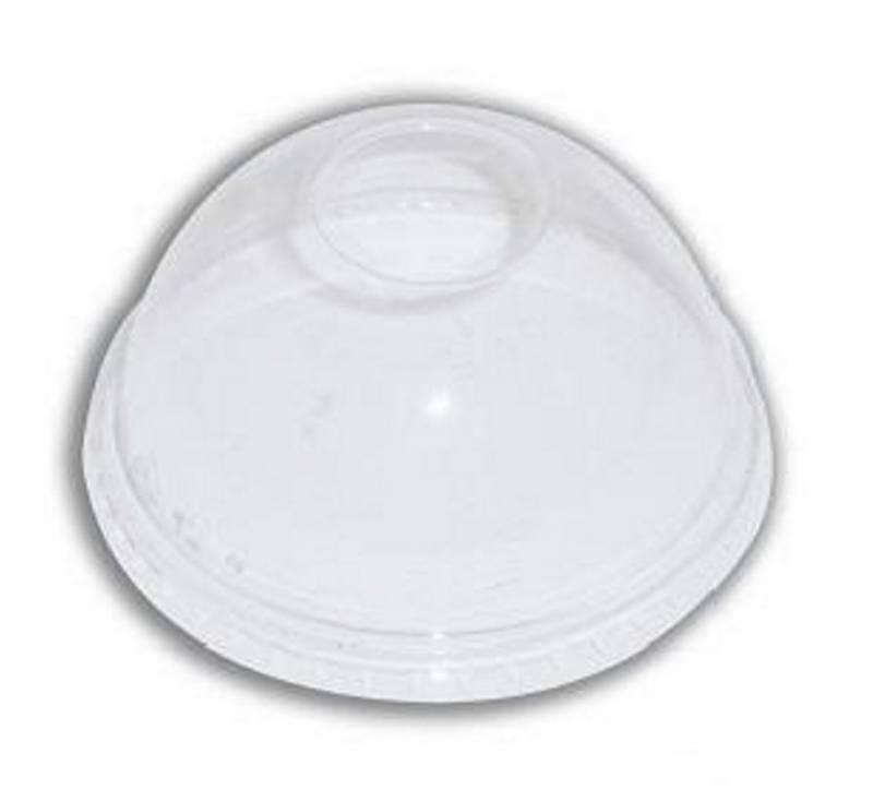 Billede af Låg kuppel med hul t/40cl glas PLA 50stk/ps