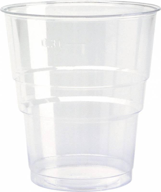 Image of   Plastglas økonomi 39cl 0,3l 50stk/ps
